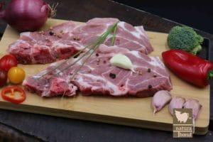 Acheter côte de porc échine en direct élevage
