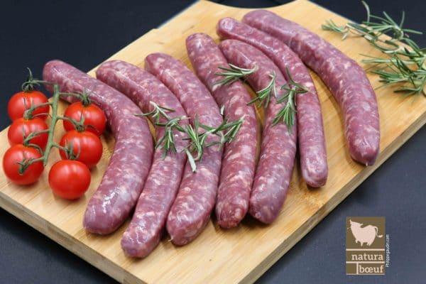 Acheter saucisses de porc nature en direct producteur