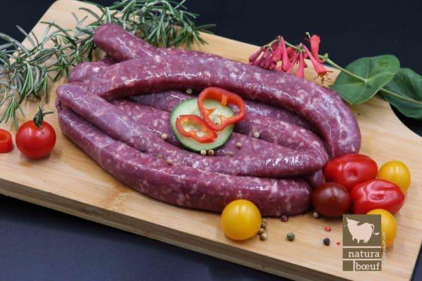 Achat saucisse de bœuf fermier