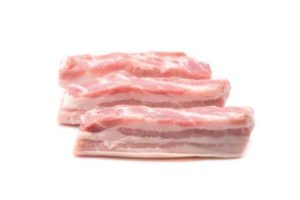Poitrine de porc tranché X4