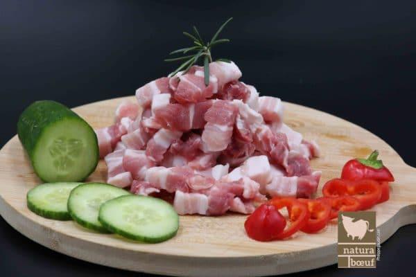 Acheter lardons de porc nature en direct producteur